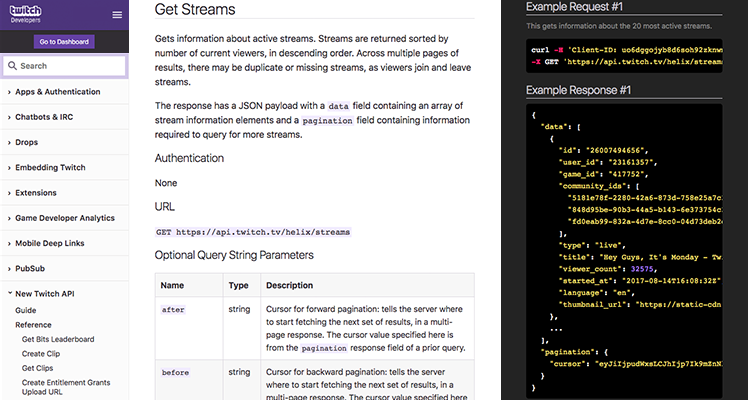 Twitch Developer Documentation | Twitch Developers